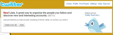 Twitters LIST Feature – Is this the beginning of the end?