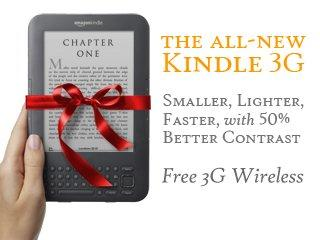 Christmas Giveaway – Kindle 3G, Amazonian Profit Plan Ebook and $50 Amazon Gift Card