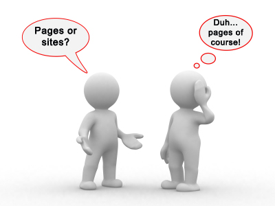 pages vs sites