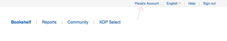 Amazon KDP Account Details
